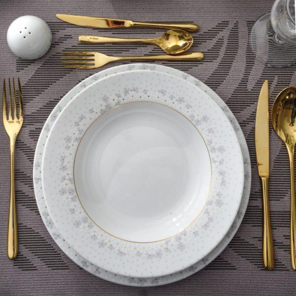 سرویس چینی زرین 6 نفره غذاخوری برایدال سفید (28 پارچه)