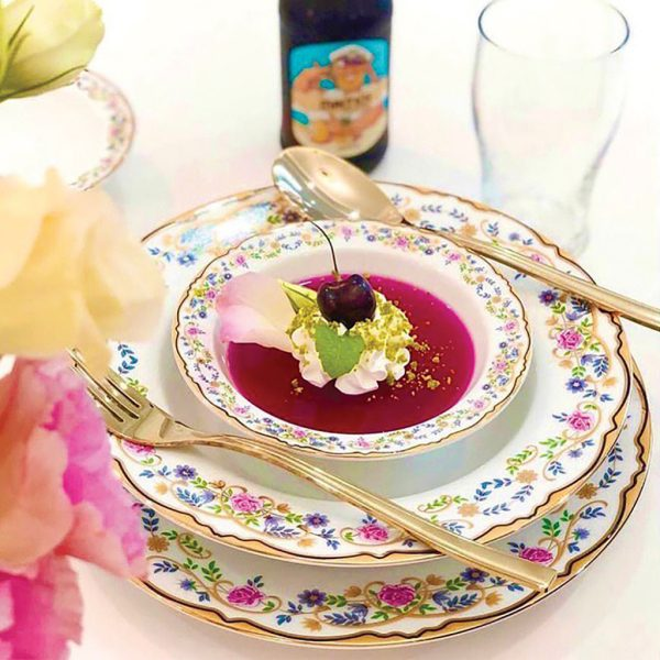 سرویس چینی زرین 6 نفره غذاخوری گلستان (28 پارچه)