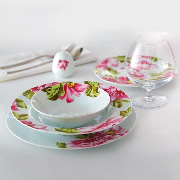 سرویس چینی زرین 6 نفره غذاخوری لیلین (28 پارچه)