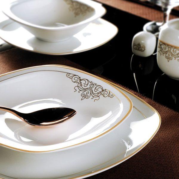 سرویس چینی زرین 12 نفره کامل موناکو (98 پارچه)