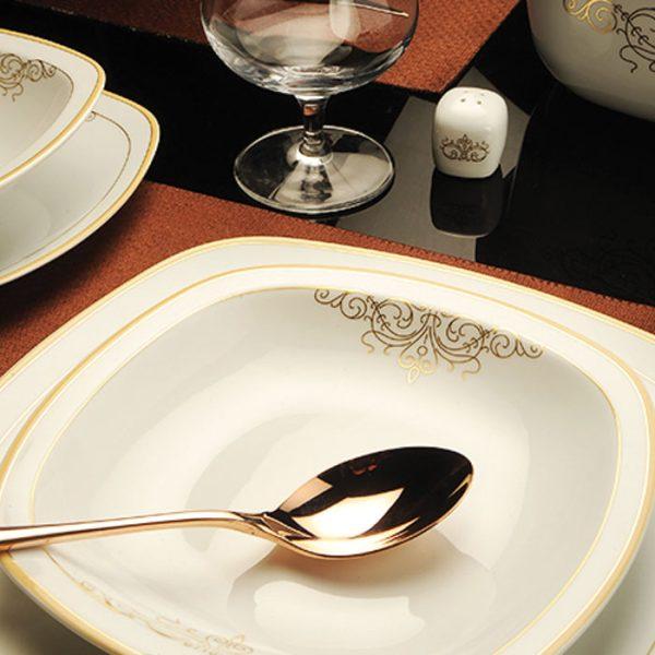 سرویس چینی زرین 6 نفره غذاخوری موناکو (27 پارچه)