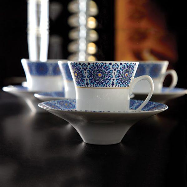 سرویس چینی زرین 6 نفره چای خوری سلطانیه طلایی (12 پارچه)