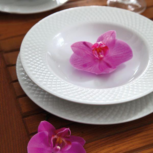 سرویس چینی زرین 12 نفره کامل سفید رادیانس (76 پارچه)