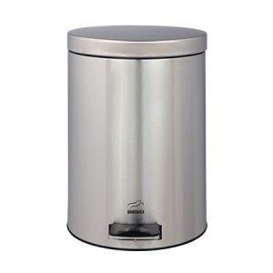سطل زباله پدالدار ۱۴ لیتری بهازکالا استیل (درب استیل)