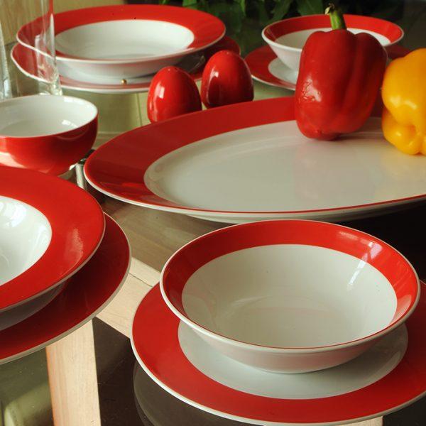 سرویس چینی زرین 6 نفره غذاخوری گیلاس (28 پارچه)
