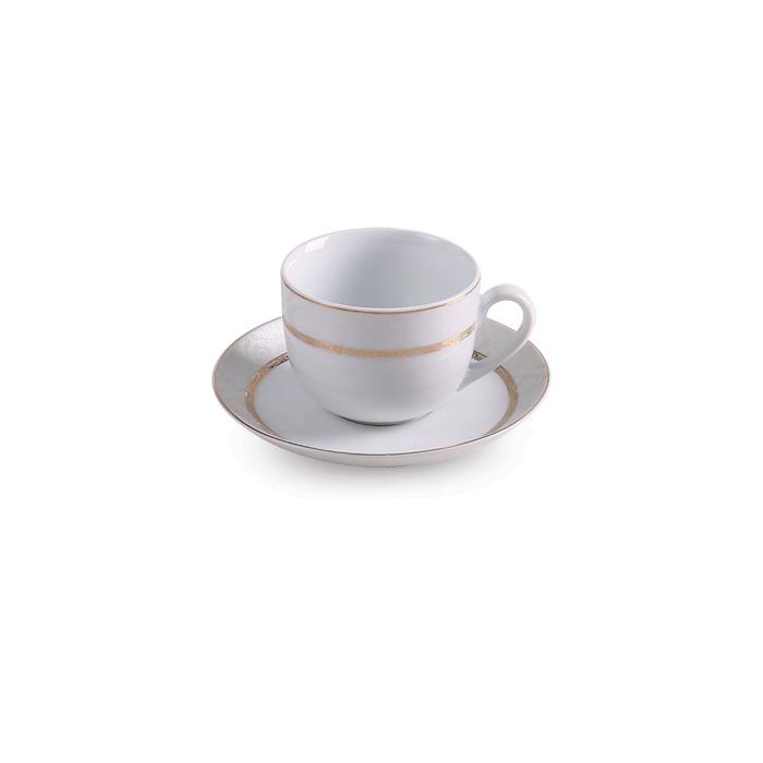 سرویس چینی زرین ۶ نفره چای خوری هدیه طلایی (۱۲ پارچه)