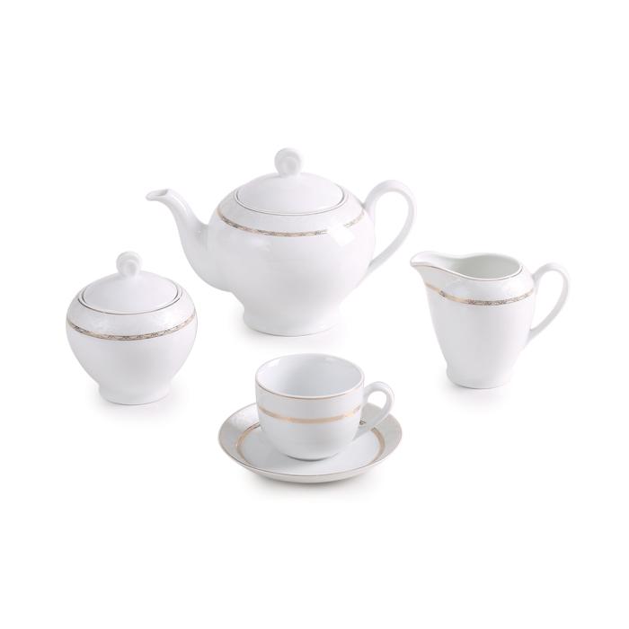 سرویس چینی زرین ۶ نفره چای خوری هدیه طلایی (۱۷ پارچه)