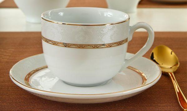 سرویس چینی زرین 6 نفره چای خوری هدیه طلایی (12 پارچه)