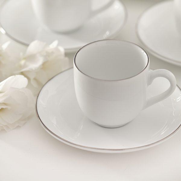 سرویس چینی زرین 6 نفره قهوه خوری سمن (12 پارچه)
