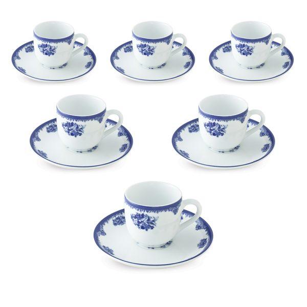 سرویس چینی زرین 6 نفره قهوه خوری فلورانس (12 پارچه)