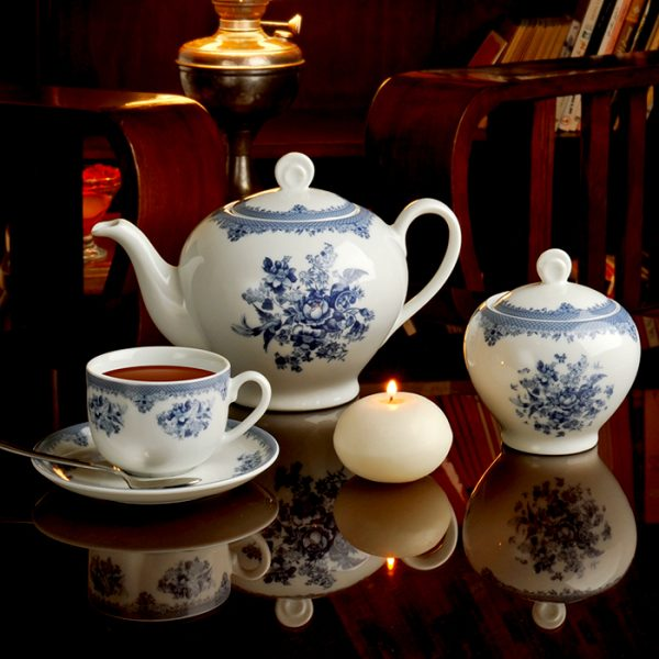 سرویس چینی زرین 6 نفره چای خوری فلورانس (17 پارچه)