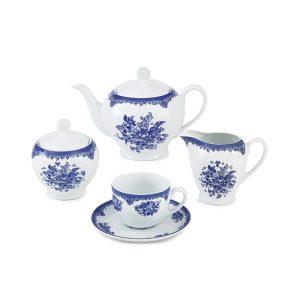 سرویس چینی زرین ۶ نفره چای خوری فلورانس (۱۷ پارچه)