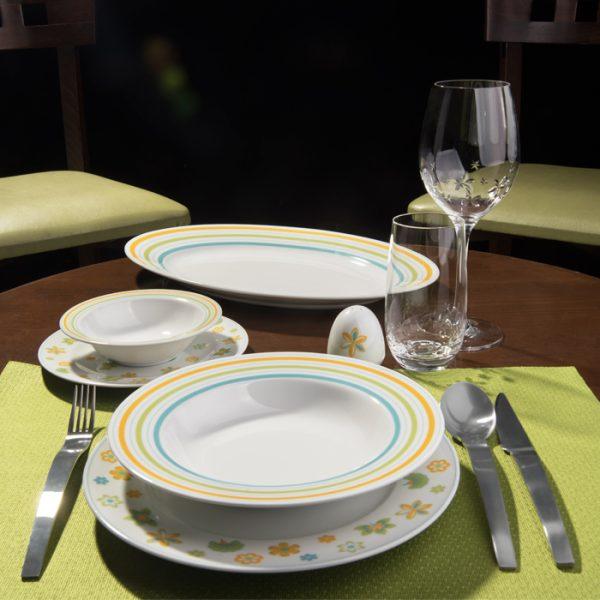 سرویس چینی زرین 6 نفره غذاخوری مایورکا (28 پارچه)