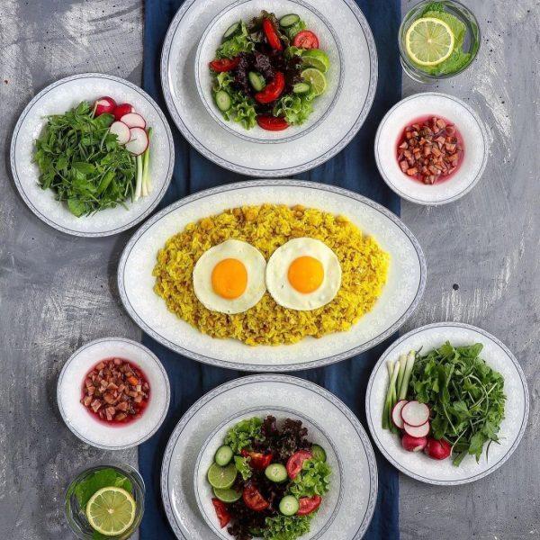سرویس چینی زرین 6 نفره غذاخوری وایت رز (35 پارچه)