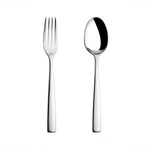 قاشق و چنگال غذاخوری ناب استیل طرح فلورانس استیل براق