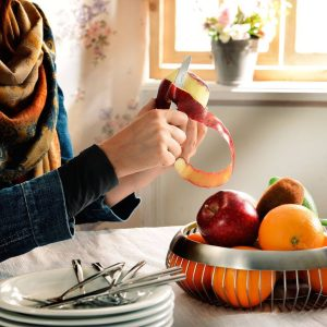 کارد و چنگال میوه خوری ناب استیل طرح فلورانس استیل براق