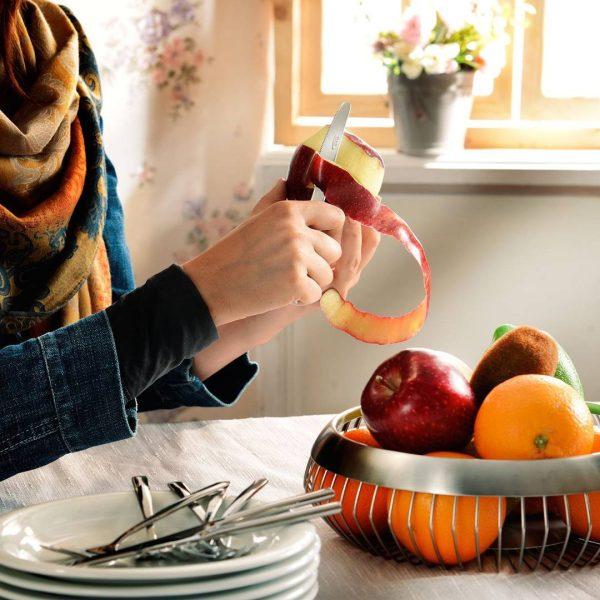 کارد و چنگال میوه خوری 6 نفره ناب استیل طرح فلورانس استیل براق (12 پارچه)