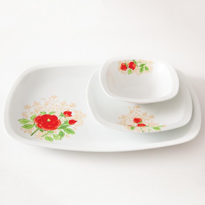 سرویس چینی زرین 6 نفره غذاخوری شارلوت (27 پارچه)