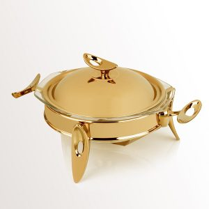 سوفله سوپ خوری کوچک تک استیل مدل لوپ (استیل طلایی براق)