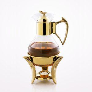 قهوه جوش تک استیل مدل لوپ (استیل طلایی براق)