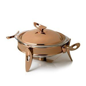سوفله سوپ خوری کوچک تک استیل مدل لوپ (استیل رزگلد)