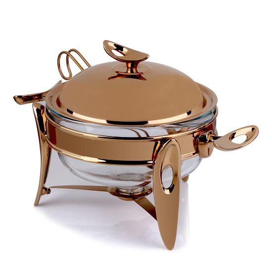 سوفله سوپ خوری متوسط تک استیل مدل لوپ (استیل رزگلد)
