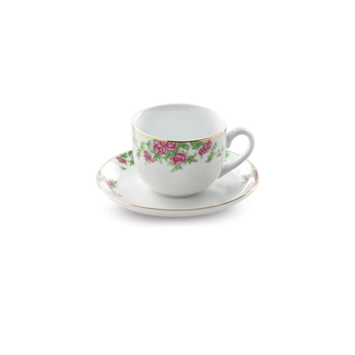 سرویس چینی زرین ۶ نفره چای خوری بیدگل (۱۲ پارچه)