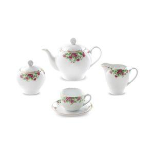 سرویس چینی زرین ۶ نفره چای خوری بیدگل (۱۷ پارچه)