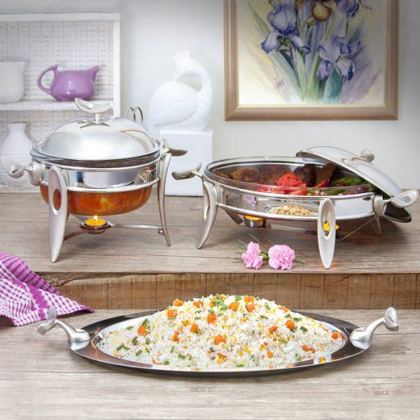 سوفله سوپ خوری متوسط تک استیل مدل لوپ (استیل)