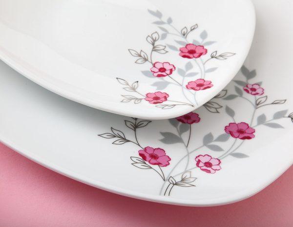 سرویس چینی زرین 12 نفره کامل گل پامچال (98 پارچه)