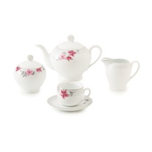 سرویس چینی زرین ۶ نفره چای خوری کردوبا (۱۷ پارچه)