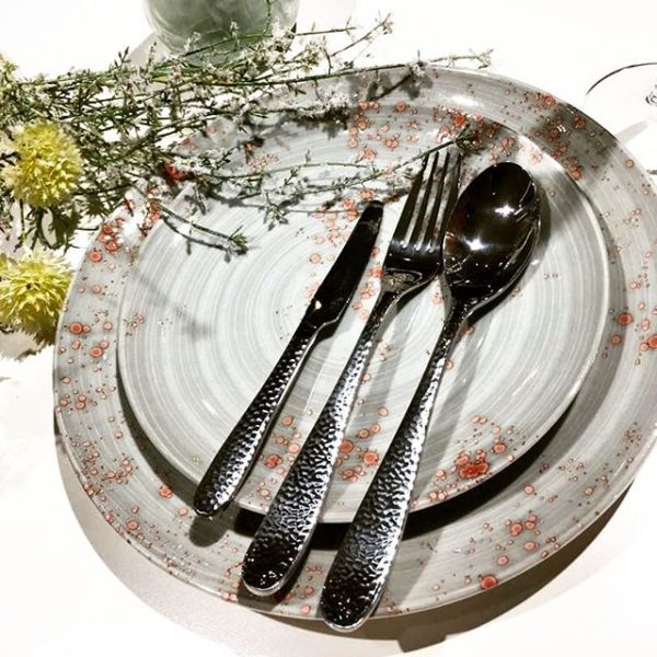 کارد غذاخوری 6 نفره ناب استیل طرح واریان (6 پارچه)