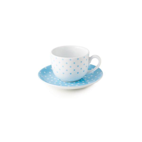 سرویس چینی زرین 6 نفره چای خوری اسپاتی آبی (12 پارچه)