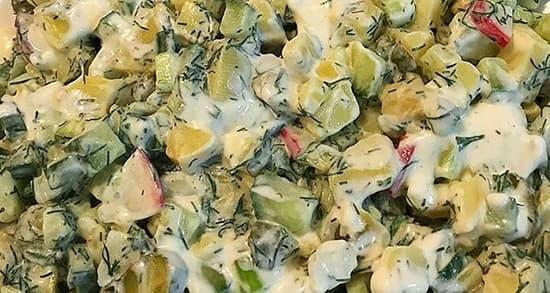salad sibzamini shevid