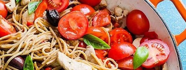 آموزش طرز تهیه اسپاگتی مرغ