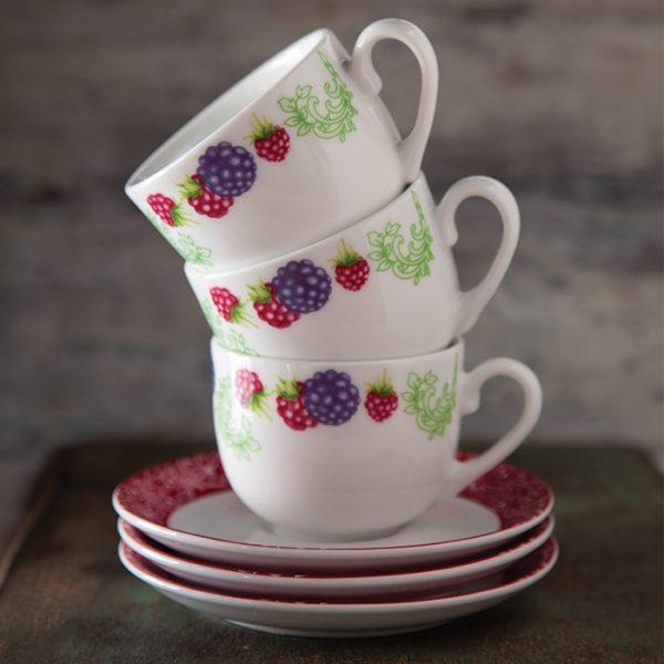 سرویس چینی زرین 6 نفره چای خوری ردبری (12 پارچه)