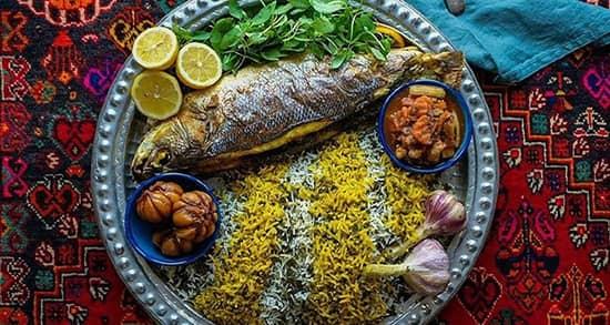 fish rice vegetables