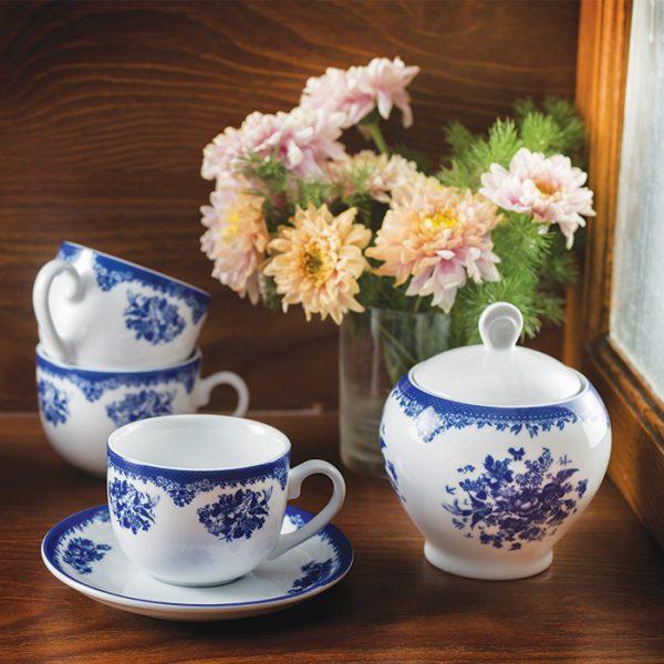سرویس چینی زرین 6 نفره چای خوری فلورانس (14 پارچه)