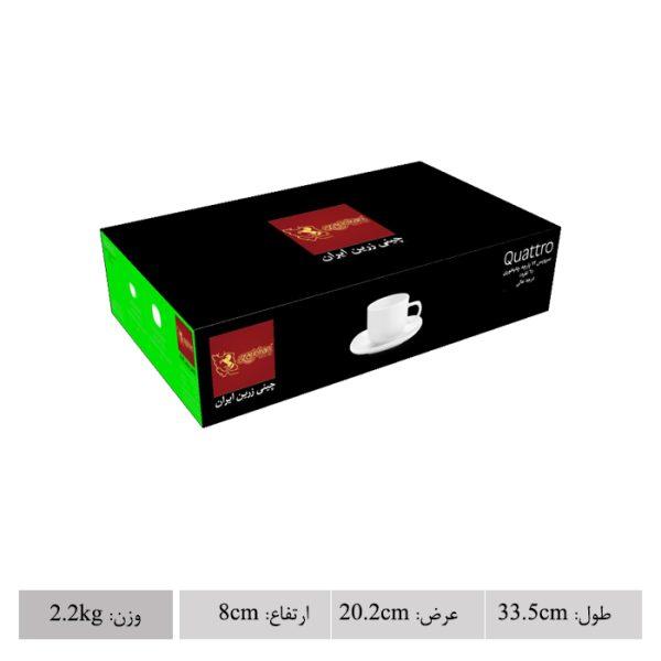 سرویس چینی زرین 6 نفره چای خوری رزفلاور کواترو (12 پارچه)