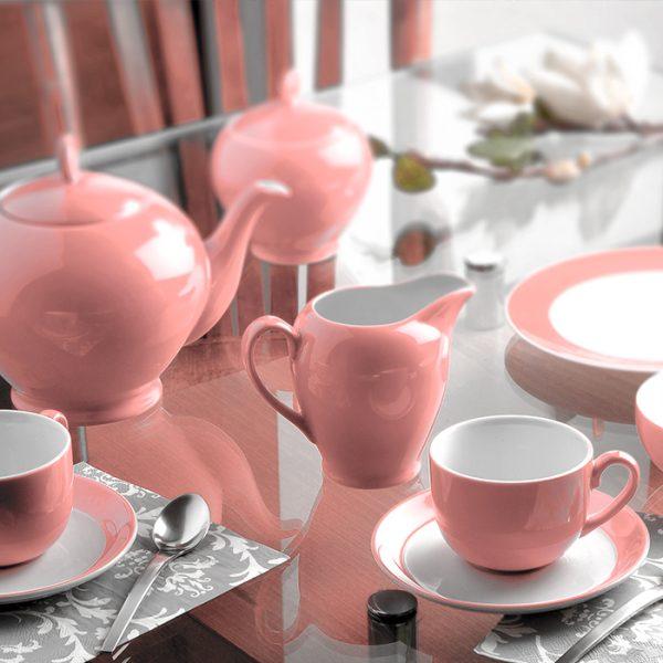 سرویس چینی زرین 6 نفره چای خوری ماربل (17 پارچه)