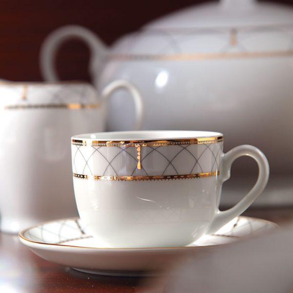 سرویس چینی زرین 6 نفره چای خوری روما (12 پارچه)