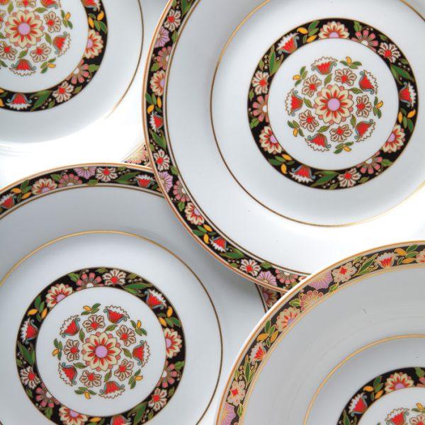 سرویس چینی زرین 6 نفره غذاخوری گلدن گاردن (35 پارچه)