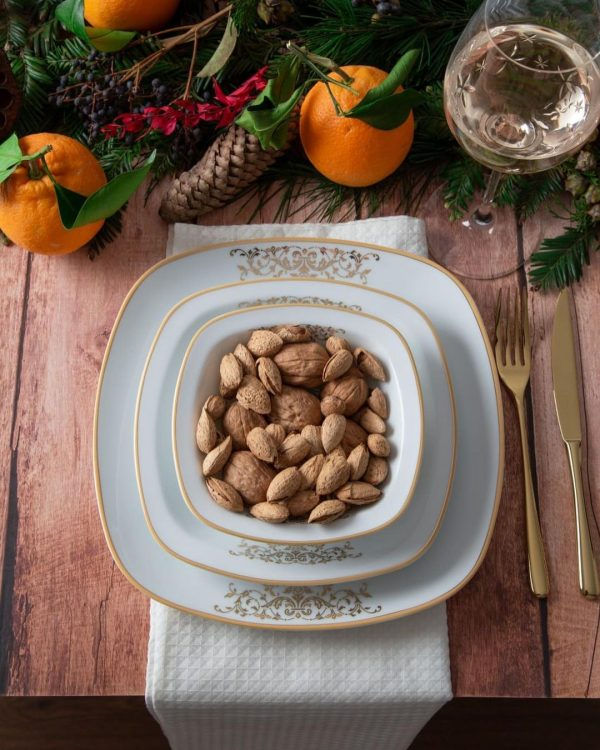 سرویس چینی زرین 6 نفره غذاخوری مونت کارلو طلایی (27 پارچه)