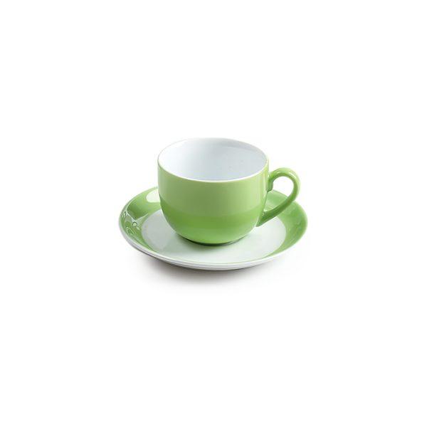 سرویس چینی زرین 6 نفره چای خوری پسته (17 پارچه)