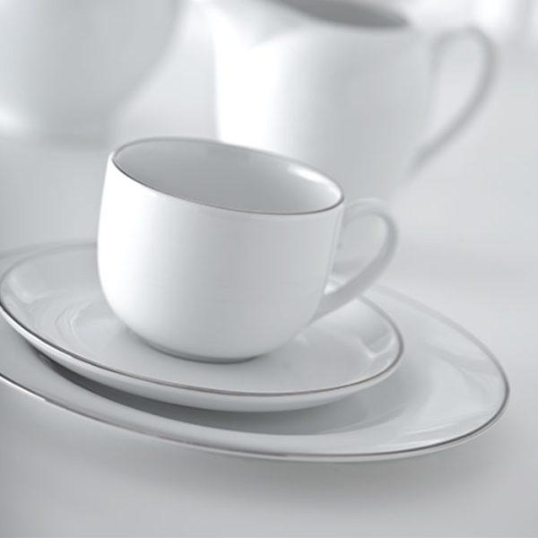 سرویس چینی زرین 6 نفره چای خوری سمن (12 پارچه)