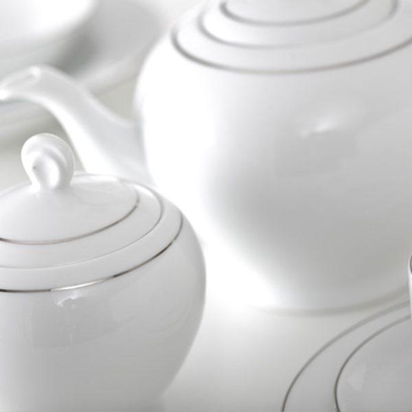 سرویس چینی زرین 6 نفره چای خوری سمن (17 پارچه)