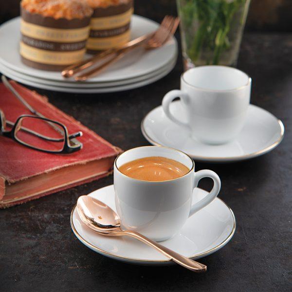 سرویس چینی زرین 6 نفره قهوه خوری زرین (12 پارچه)