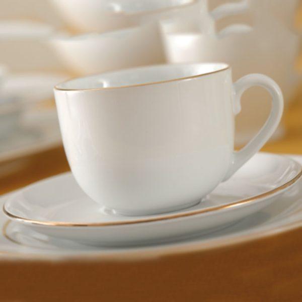 سرویس چینی زرین 6 نفره چای خوری زرین (17 پارچه)