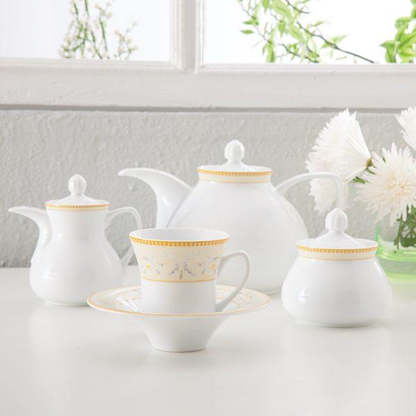 سرویس چینی زرین 6 نفره چای خوری جنوا (18 پارچه)