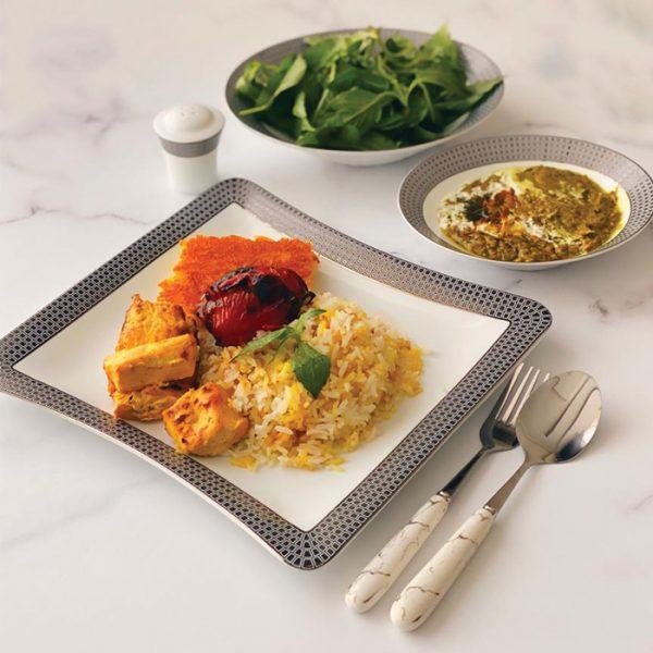 سرویس چینی زرین 6 نفره غذاخوری سورن (30 پارچه)